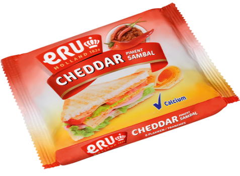 ERU Slices Cheddar Piment
