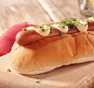 Hotdogy s uzeným sýrem