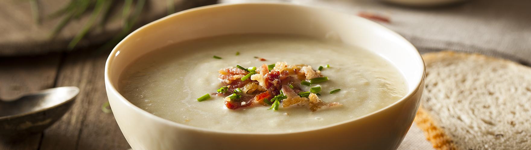Žampionová polévka se sýrem ERU Maasdammer