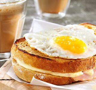Tousty 'croque madame'