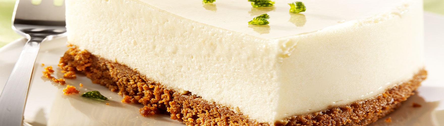 Tarta de queso cremosa con sabor a manzana y miel