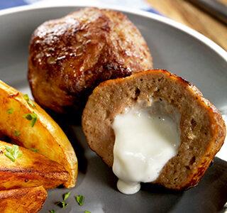 Töltött húsgolyók ERU Crème au Bleu-vel
