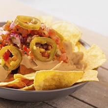 3 x nachos au cheddar