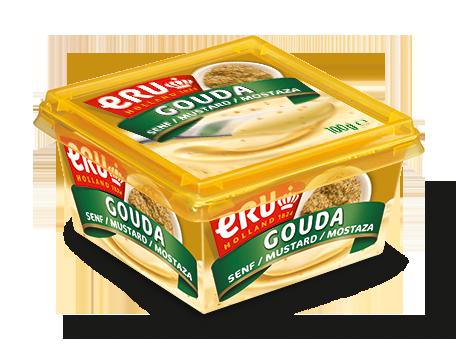 Chicken bagel with ERU Gouda Mustard