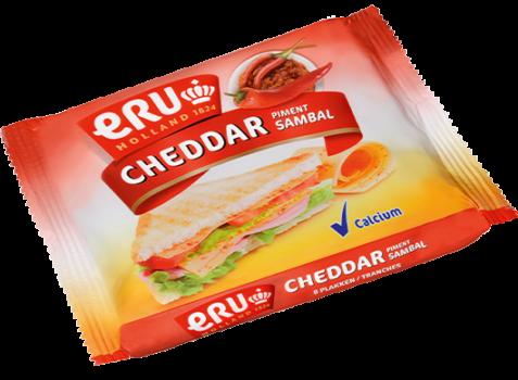 ERU Slices Cheddar Red Pepper