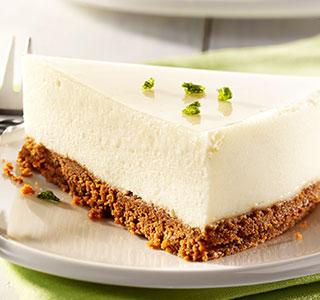 Cheesecake cremoso com sabor doce a maçã e mel