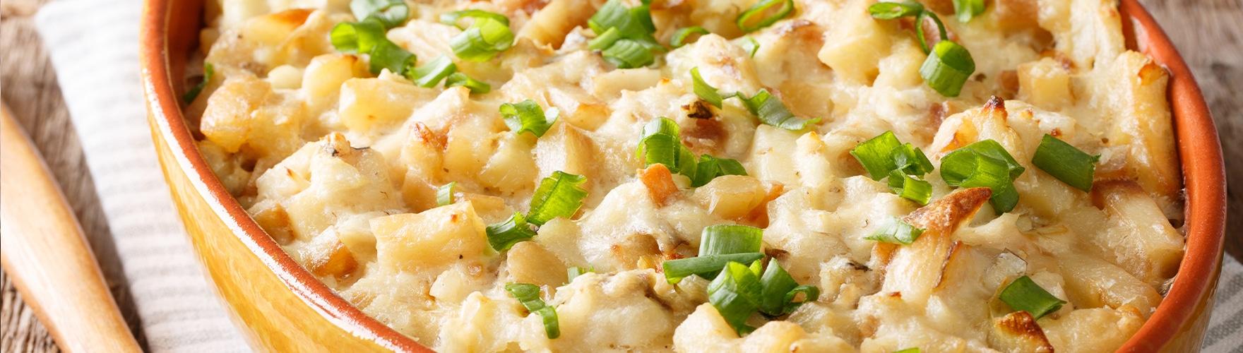Bacalhau com queijo cremoso