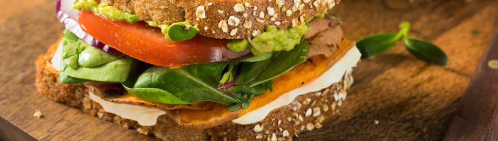 Sandwich met zoete aardappel