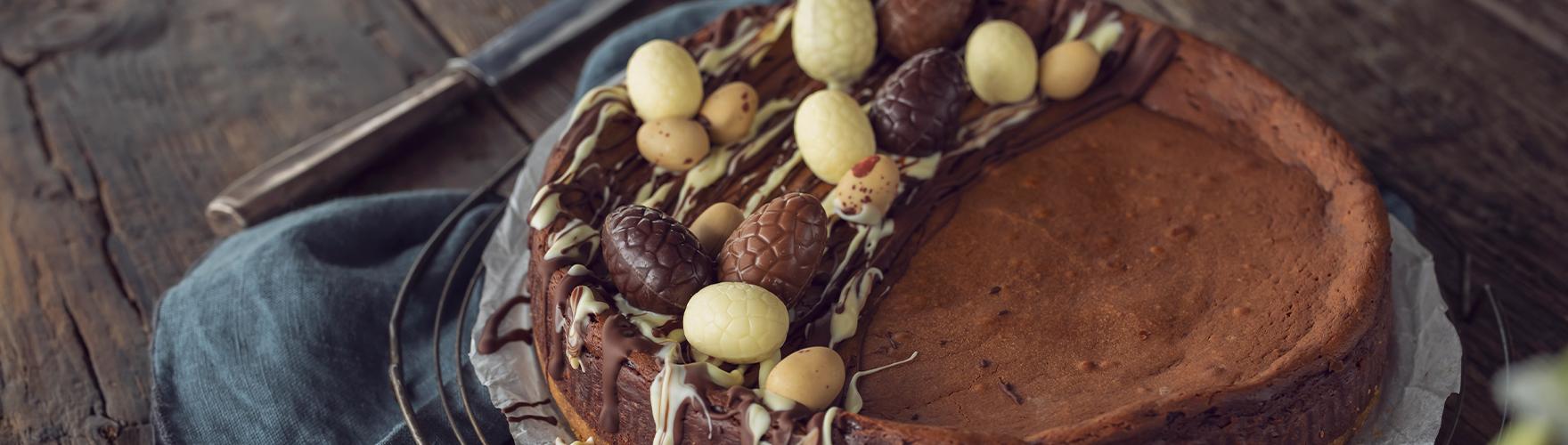 Chocolade cheesecake met brie